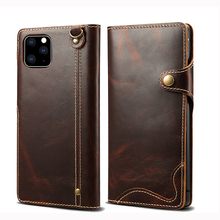 For IPhone 12 mini Pro Max Case Luxury Genuine Leather Wallet Stand Protection Flip Cover for IPhone XS Max 11 Pro Max Case