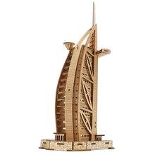 Carboard 3D Paper Building Puzzle Model Toys World Souvenir De La Tour Hotel Arabia for Kids 8 Years baby toys educational
