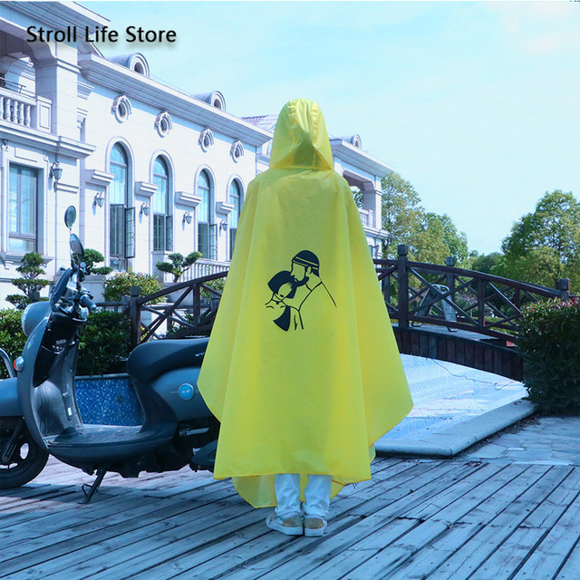 Yellow Raincoat Women Electric Bike Poncho Cute Korean Long Motorcycle Rain Coat Windbreaker Men Jacket Capa De Chuva Gift Ideas 3