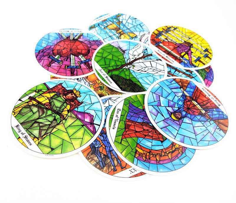 78 pièces cartes Tarot des cloîtres cartes jeu de société 1993 rond carte à jouer jeux de pont divertissement pour la fête de famille cadeau