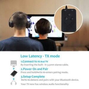 Image 4 - Портативный Bluetooth 4,2 передатчик беспроводной аудио приемник адаптер Мини 3,5 мм ТВ приемник стерео аудио музыкальный адаптер для динамика