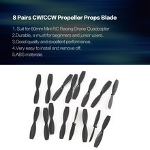 8 Pairs CW/CCW Propeller Props Blade for RC 60mm Mini Racing Drone Quadcopter Aircraft UAV Spare Parts Accessories Component 4 pairs propeller for xiaomi 1080p drone mi self locking blade props 1046r props cw ccw replacement wing spare parts fans cw ccw