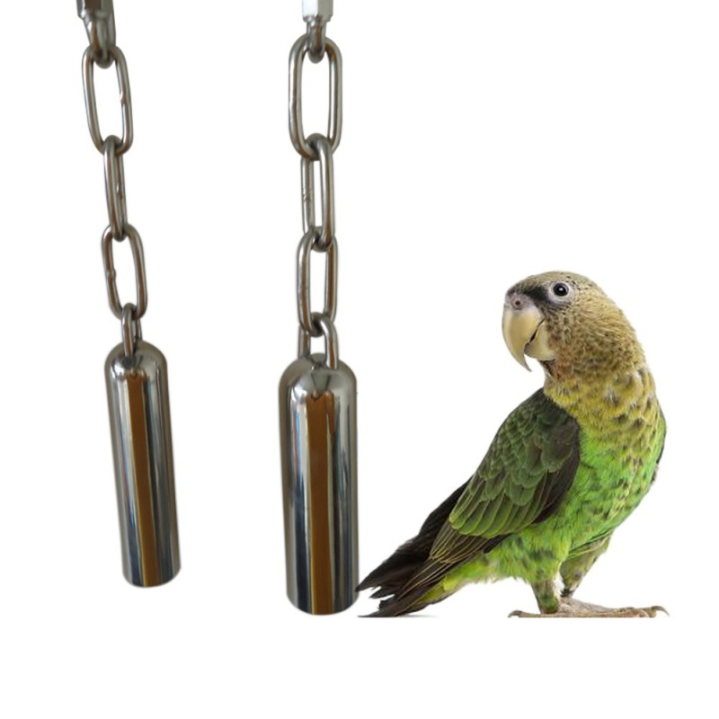 1 Pcs Stainless Steel Parrot Bell Toy Hanging Bell Bite Toy Squirrel Cage Parrot Bird Pigeon Parrot Swing Toys Pet Accessories