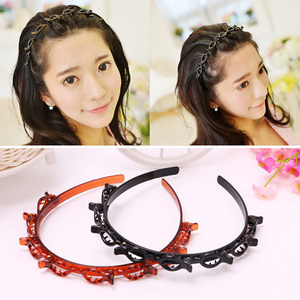 Fashion Creative Multilayer Hollow Headband Hairpin Weave Hair Hoop Women Simple Headwear Hair Styling Tool