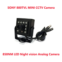 HD MINI 800TVL CCTV Camera 1/3SONY IR CCD 10 light infrared LED Night Vision Indoor Camera Mini CCTV Security Video Camera