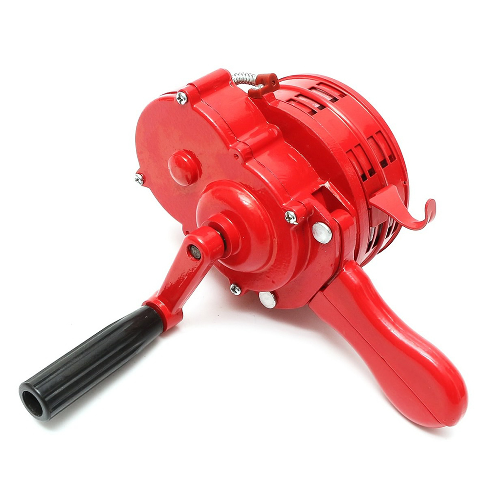 Hand Operated Crank Air Raid Safety Siren Fire Emergency Alarm Aluminum Alloy 231X202X115mm JHP-Best