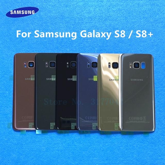 S8 Back Battery Cover Housing For Samsung Galaxy S8 Plus S8+ G955 G955F G955FD S8 G950 G950F G950FD Back Rear Glass Case