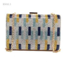 2020 ROOGLI Fashionable women's hand bag diamond Evening