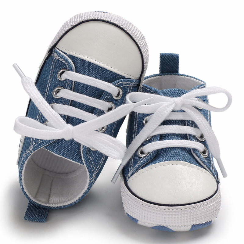 Baby Shoes Pu Leather Shoes Sports Sneakers Newborn Baby Boys Girls Stripe Pattern Shoes Infant Toddler Soft Anti-slip Shoes