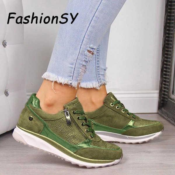 Frauen Keile Turnschuhe frauen Vulkanisieren Schuhe Pailletten Schütteln Schuhe Mode Mädchen Sport Schuhe Frau Turnschuhe Schuhe Schuhe