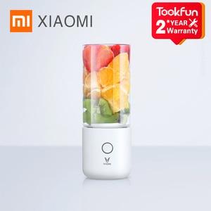 Image 1 - خلاط شاومي MIJIA VIOMI الكهربائي في المطبخ, عصارة، كوب فواكه، صغيرة، محمولة، منتج أغذية صغير، 45 ثانية، عصير سريع
