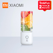 Xiaomi Liquidificador e batedeira elétrica Mijia Viomi, com juicer e copo de Frutas pequeno, Miniprocessador de alimentos portátil, suco rápido de 45 segundos
