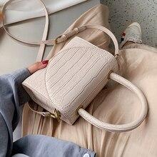여성을위한 스톤 패턴 PU 가죽 Crossbody 가방 2021 럭셔리 품질 어깨 간단한 가방 레이디 디자이너 핸드백 토트