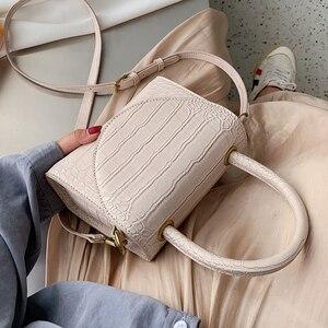 Image 1 - 石のパターンpuレザー女性のためのクロスボディバッグ2021高級品質ショルダーシンプルなバッグ女性デザイナーハンドバッグトートバッグ