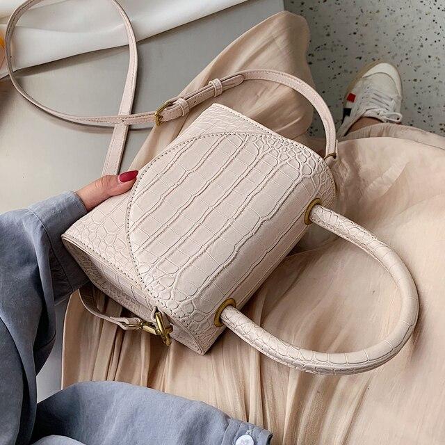 石のパターンpuレザー女性のためのクロスボディバッグ2021高級品質ショルダーシンプルなバッグ女性デザイナーハンドバッグトートバッグ