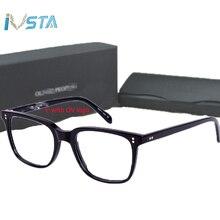 IVSTA Oliver logo OV 5031 NDG Acetate Glasses Men Optical Frame Prescription Polarized Sunglasses Square Luxury Brand Box Myopia недорго, оригинальная цена