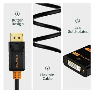 Image 4 - Переходник CABLETIME с порта дисплея на DVI, переходник «штырь гнездо», активный порт дисплея DP на DVI, удлинитель 1080P 3D для проектора HDTV PC N108