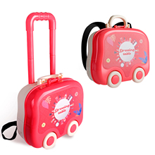 Kids Fashion Makeup Suitcase Portable Travel Girl Makeup Set Toy Cosplay Makeup Toy For 3 4 5 Year Old Girl Perfect Gift Sweetie