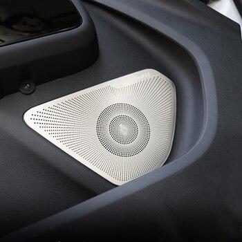 Für Citroen C5 AIRCROSS 2018 2019 Auto Styling Tür Lautsprecher Sound Chrom Pad Abdeckung Trim Rahmen Aufkleber Innen Zubehör