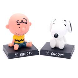 Haledongman мультфильм автомобиль Бобби голова кукла винил Snoopy автомобиль декоративные аксессуары для автомобиля гаражный комплект украшения