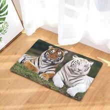 Outdoor bathroons rugs tiger print carpets anti slip floor mat