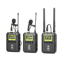 Professional Wireless Video Recording Lavalier Lapel Microphone Mic System for Canon Nikon Sony DSLR Camera