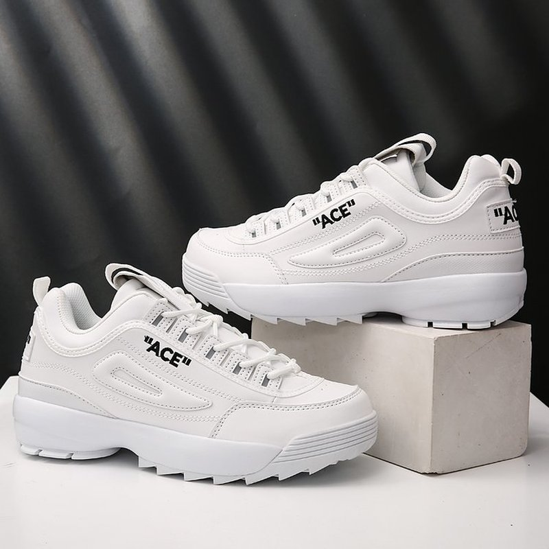 Couple High Quality Destroyer Blade Running Shoes Men Leather Sport Sneakers Women Increased Old Dad Shoes Zapatillas Deportiva