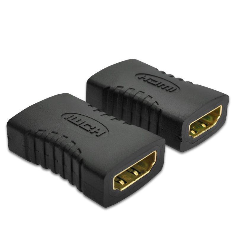 Adaptador fêmea para fêmea conector extensor cabo cabo extensão adaptador conversor 1080p áudio vídeo cabo acessórios adaptadores