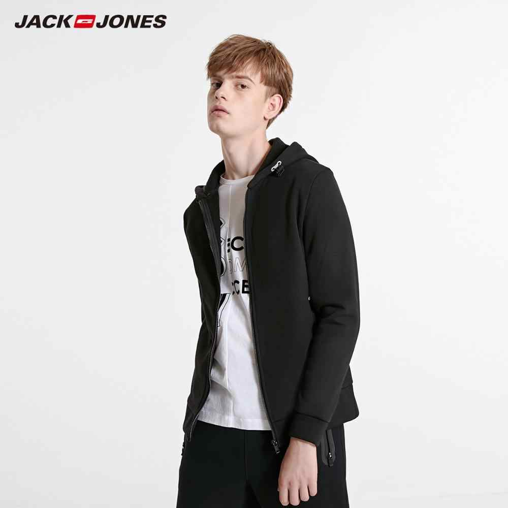 JackJones 男性のカーディガンフリーススエットシャツジャケットメンズパーカー 2019 ブランド新ファッション紳士服 218333524