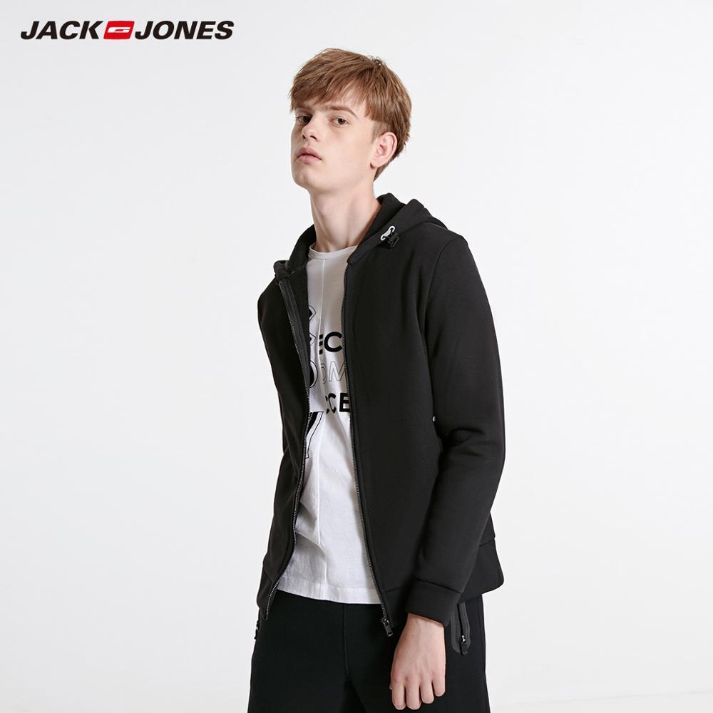 Men's Cardigan Fleeced Hooded Sweatshirt Jacket Men's Hoodies Brand New Fashion Menswear 1