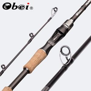 Obei Perigee Baitcasting Fishing Rod Travel Ultra Light Spinning Lure 5g-40g M/ML/MH/XH Accion Rod 1.8m 2.1m 2.4m 2.7m 3 Section
