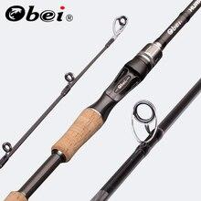 Obei canne à pêche Baitcasting et Spinning, ultra légère, pour voyage, pêche au leurre, 5g à 40g, M/ML/MH/XH, 1.8m, 2.1m, 2.4m, 3 sections