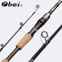 Obei perigee baitcasting fishing rod travel ultra light spinning lure 5g-40g M/ML/MH/XH accion Rod 1.8m 2.1m 2.4m 2.7m 3 section