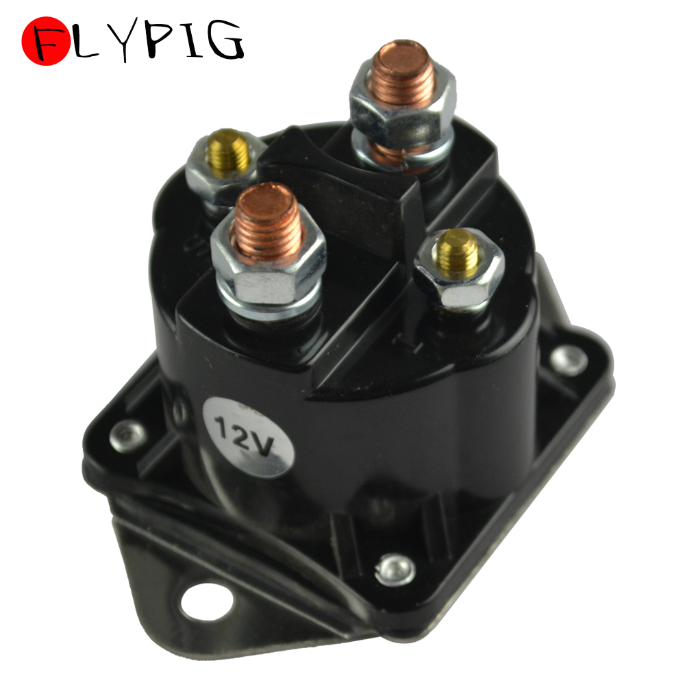 New 12V Switch Relay Solenoid Outboard 2 Holes For Mercury Marine Arco 1986-1997 35-150HP 89-850189 89-91975 7-1089