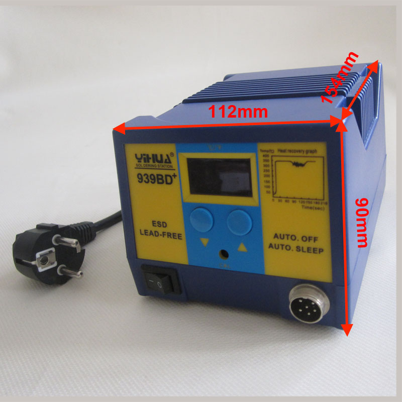 Lead Adjustable 939BD Station LED Display Rework Machine Free 75W ESD Temperature YIHUA Plus