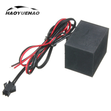 Haoyuehao 2PCS Wiring Driver For 1 DC 2m 3m 4m 5m LED EL Harness Strip Light Connection 12V Automatic Car
