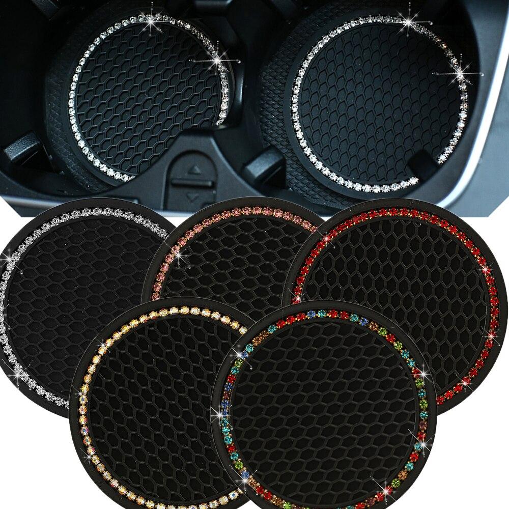 Стразы Автомобильный держатель для бутылок с водой нескользящий коврик Силикагель нескользящий автомобильный коврик для Mini Cooper для Alfa Romeo ...