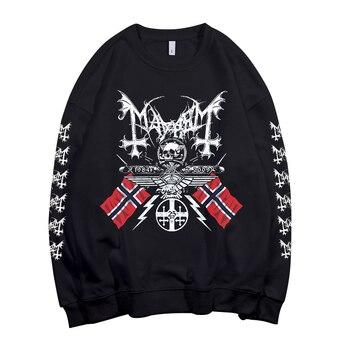 3 designs Mayhem Norway band Pollover Sweatshirt rock hoodie heavy black metal sudadera rocker streetwear fleece Outerwear