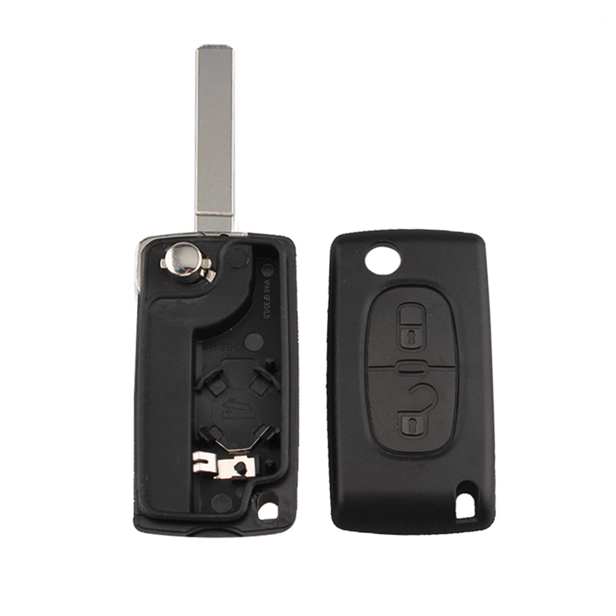 2 Buttons 434MHz ID46 PCF7961 Chip No Groove Folding Replacement Car Remote <font><b>Key</b></font> <font><b>Fob</b></font> For <font><b>Peugeot</b></font> 307 <font><b>3008</b></font> 308 408 VA2 CE0536 image