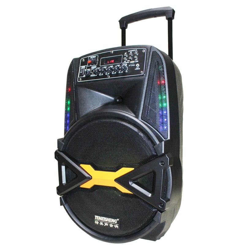 Haut parleur extérieur de mode 160W Subwoofer 12''Bass Bluetooth haut parleur avec lumière colorée stéréo Portable Super grand haut parleur - 6