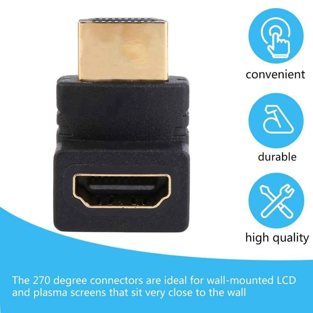 HDMI Cavo Adattatore A Maschio A Femmina Cavo 270 Gradi Ad Angolo Retto Adattatore Accoppiatore Per HDTV In StockBest Vendita In
