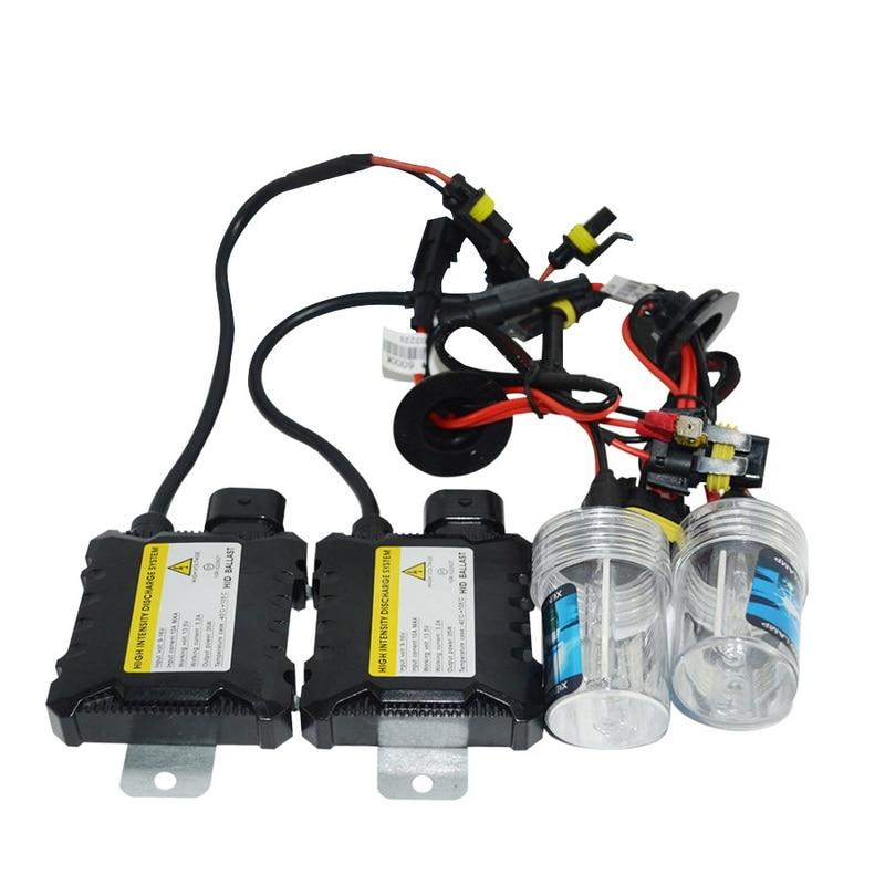 Pair Slim HID Xenon Headlight Kit 9006 9005 H1 H4 H7 H10 H11 All Colors