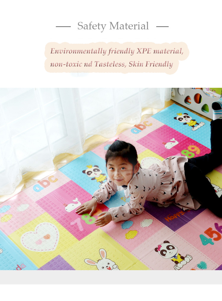 He2a3b86e2ba44f0fa4c8899eade850c6q XPE Folding Baby Play Mat 1cm Thick Crawling Toys for Children's Carpet Climbing Gyme Game Road Pad Living Room Home Kids Rug