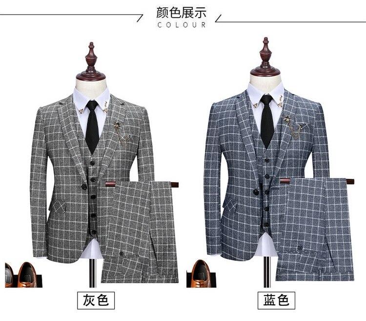 de moda xadrez masculino formal negócio terno