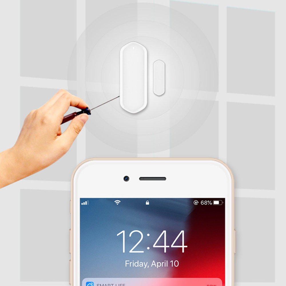Door Window Sensor Zigbee Wireless Connection Smart Mini Door Sensor Work With Mi App For Android IOS Phone