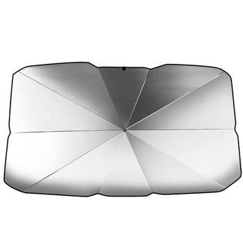 รถบังแดดภายในหน้าต่างด้านหน้าSun Shade UV Protector Sun Blindร่มSUVซีดานกระจกอุปกรณ์เสริม