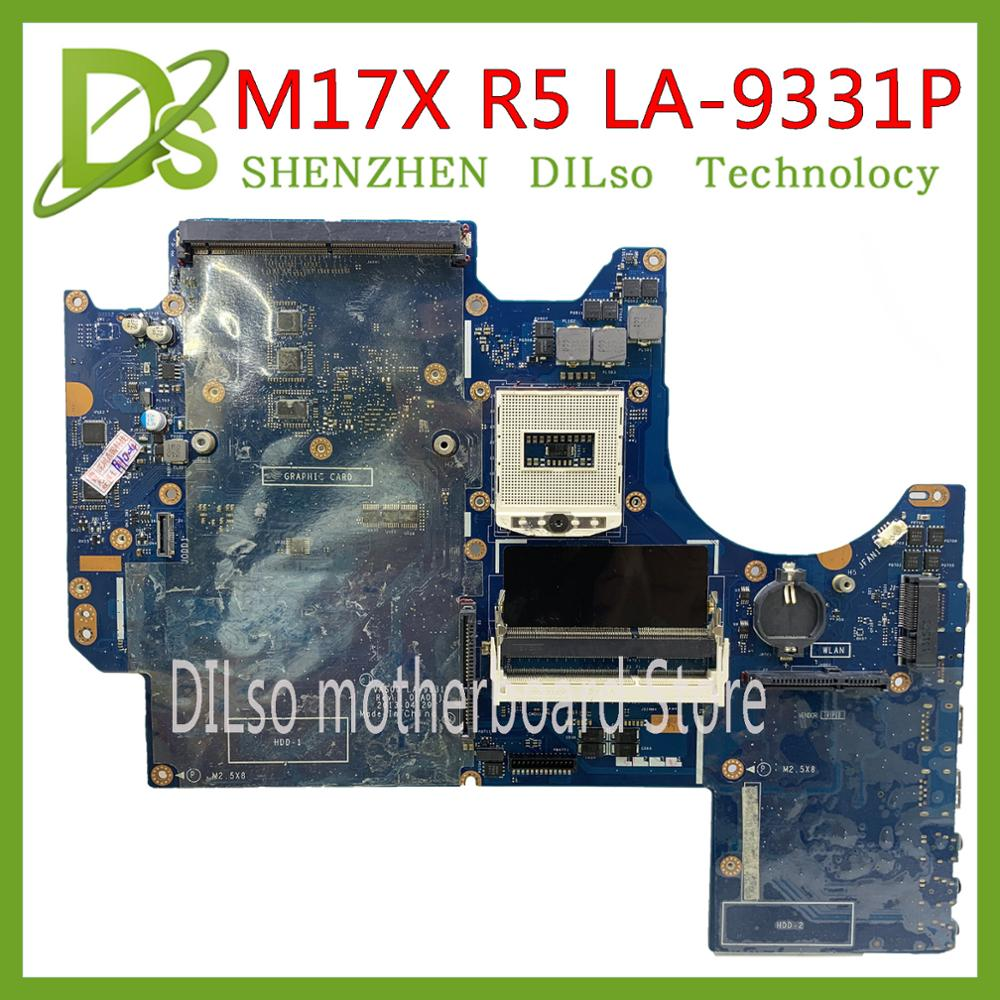 KEFU VAS00 LA-9331P Motherboard For DELL Alienware M17X R5 PC Laptop Mainboard CN-041W46 041W46 CN-05RW0M 05RW0M Original Test