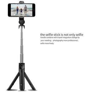 Image 3 - Besegad Opvouwbaar Bluetooth Handheld Selfie Statief Telefoon Standhouder Uitschuifbare Voor Android Ios Smartphone Statief