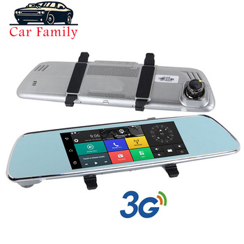 Dash Cam Android 3G 7 Inch Full HD 1080P Car Auto DVR Dual Lens GPS Navigator WIFI Bluetooth G-Sensor Rearview Mirror Camera