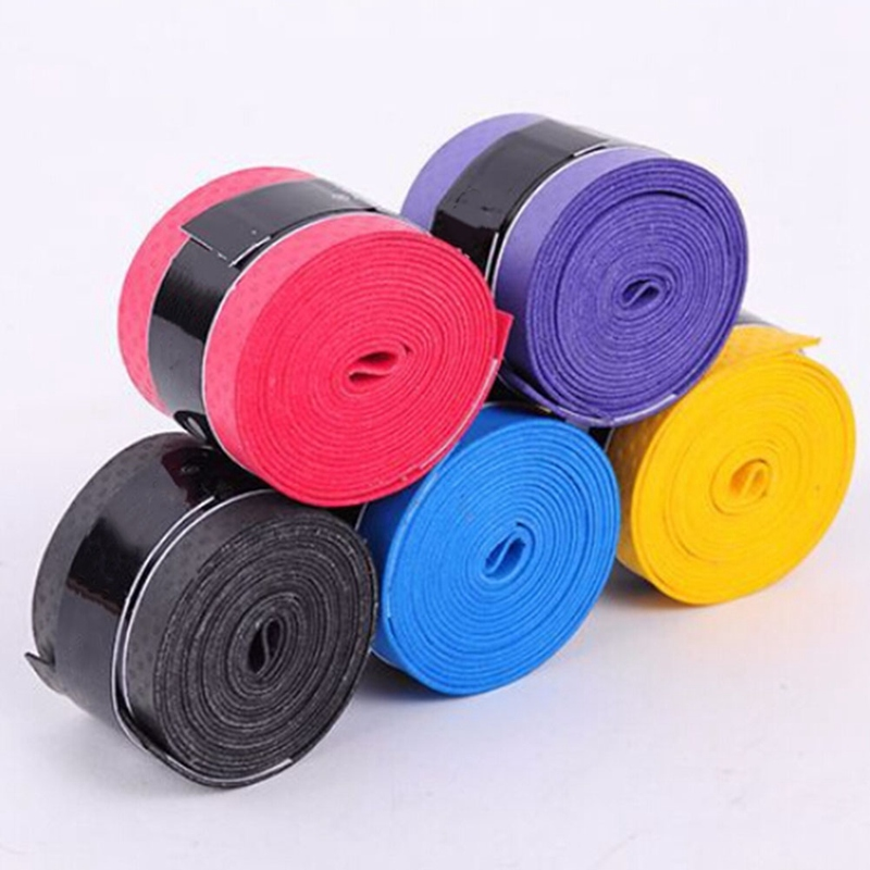10pcs/set Anti-slip Sport Fishing Rods Over Sweat Band Tennis Overgrips Tape Badminton Racket Grips Sweatband